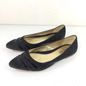 Anthropologie Anna Luz 8 Black leather Ballet Flat